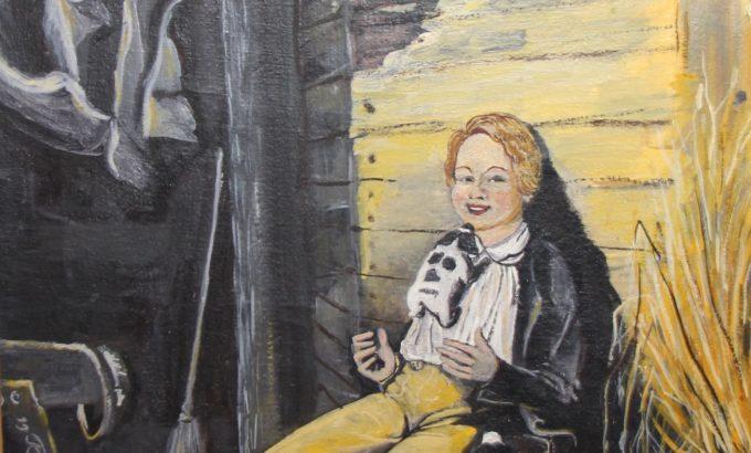 «Конюх» картина учителя школы №555 Геннадия Клейна