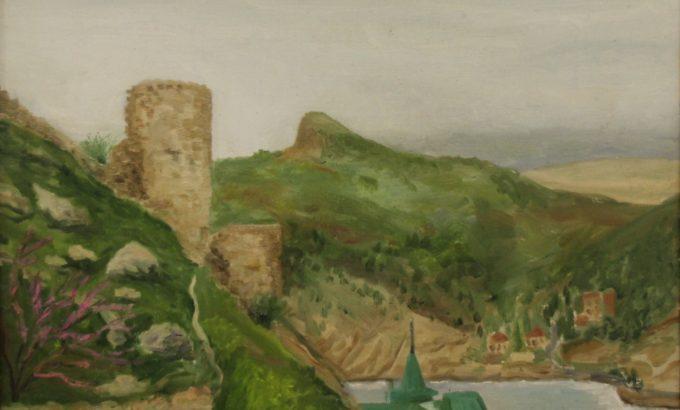 Генуэзская крепость (фрагмент), работа кисти Ильдуса Вахитова.