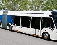 Троллейбус без проводов и чистое небо над Невским