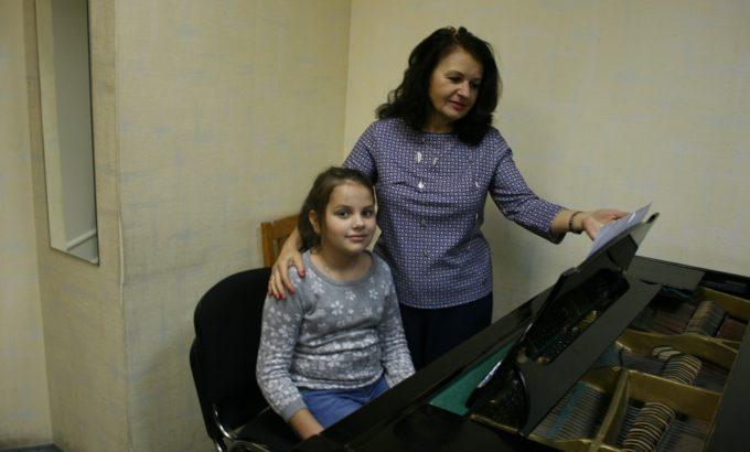 Марина Груздева с ученицей