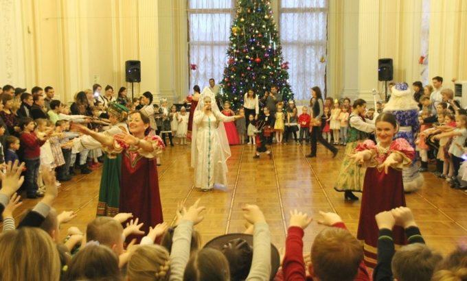 Новогодний праздник для детей членов профсоюза в штаб-квартире ЛФП
