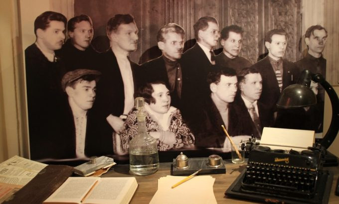 Фрагмент экспозиции из музея истории профсоюзов Петербурга и Ленобласти во Дворце Труда
