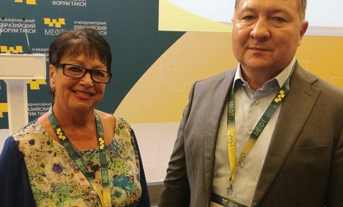 Галина Любина и Владимир Ломакин на съезде