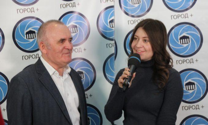 Алексанндр Симагин в эфире телеканала «Город+»