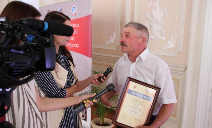 Александр Аристов на церемонии награждения победителей Конкурса Строймастер во Дворце Труда