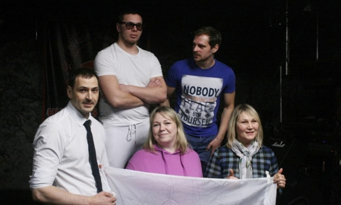 Команда СПб ГУП «Горэлектротранс». Во втором ряду Владимир Гламоздин и Александр Поддубный